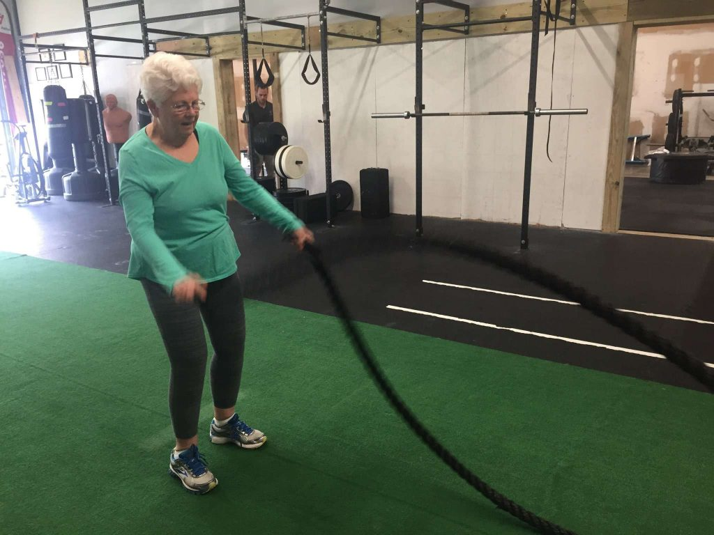 Diane with ropes
